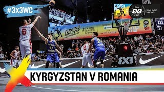 Kyrgyzstan beat Romania in thriller! | Full Game | FIBA 3x3 World Cup 2018