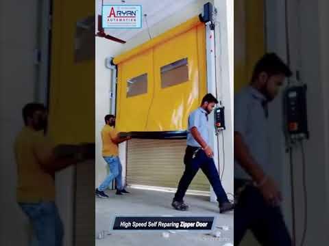 High Speed Self- Repairing Zipper Doors