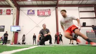 Rutgers football players training for NFL draft