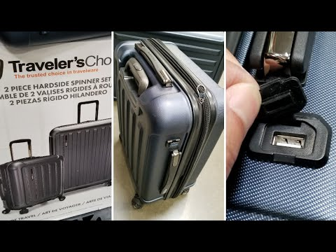 Costco! Travelers Choice luggage set w/USB Charging! $129!!!