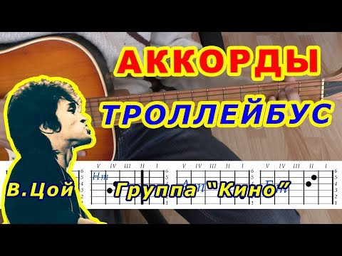 ТРОЛЛЕЙБУС Аккорды 🎸 ВИКТОР ЦОЙ Группа КИНО ♪ Разбор песни на гитаре ♫ Бой Текст