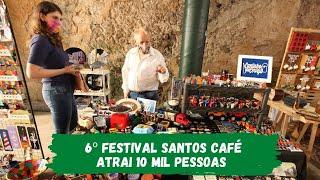 Festival Santos Café atrai 10 mil pessoas entre atividades presenciais e virtuais