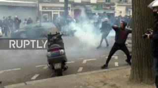France: Police use tear gas at protest against police brutality in Paris