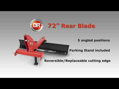 Product Video, DR 72 Inch 3 Point Tractor Grader Blade