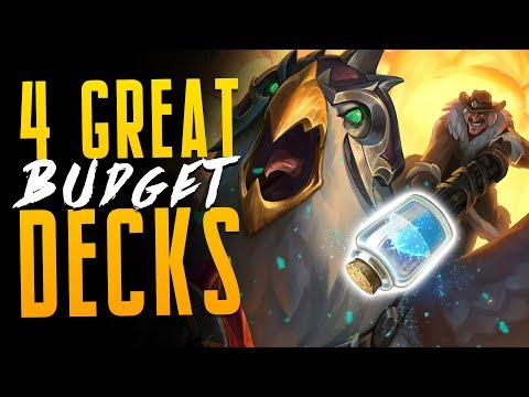 4 AMAZING Budget* Decks for Descent of Dragons | Hearthstone Expansion