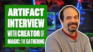 We interview Artifact's lead designer, Richard Garfield (AKA the creator of Magic: The Gathering)