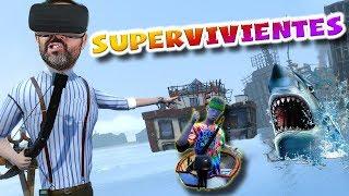 SOBREVIVIENDO AL FIN DEL MUNDO EN REALIDAD VIRTUAL con un colega | Sam & Dan VR (Floaty Flatmates)