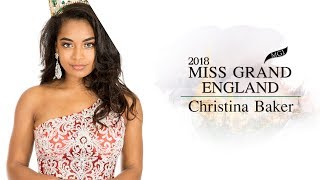 Christina Baker Miss Grand England 2018 Introduction Video