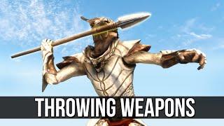 Skyrim Throwing Weapon Mods are Very Fun!