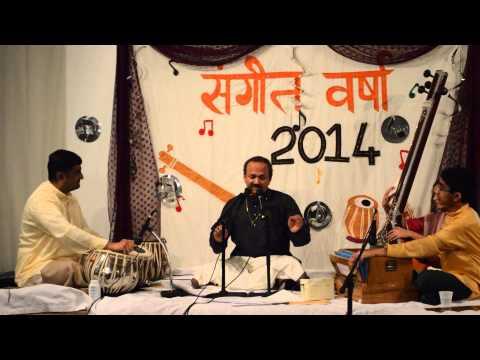 Guru Shri Hemant Kulkarni singing Raag Miya Ki Malhar in Sangeet Chaturthi 2014