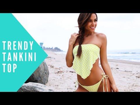 JENNA Handkerchief Tankini Top | BeachCandy Swimwear Review
