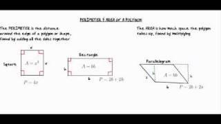 SAT Exam Tutorial - Area and perimeter of a polygon; From ViaTutor.com