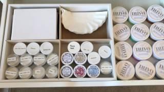Ink Storage and Drawer Storage Organization