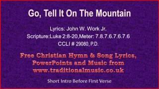 Go Tell It On The Mountain(v2) - Christmas Carols Lyrics & Music