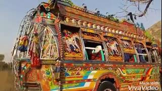 Haripur Hazara bedford buses (DNA-3972 in jabbar chowk).