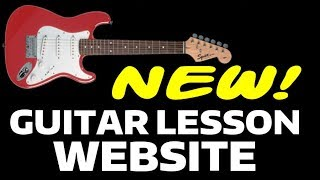 NEW Guitar Lesson Website....Makes Learning Super Easy!!