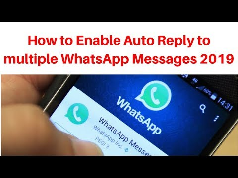 How to Enable Auto Reply to multiple WhatsApp Messages 2019