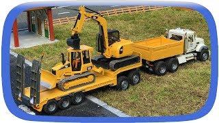 BRUDER TOYS Truck Excavators Transport! Construction Toys!