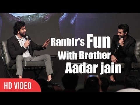 Ranbir Kapoor Masti With Brother Aadar Jain | YRF's New Talent Aadar Jain