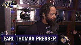 Earl Thomas Decorates Locker for Christmas, Previews Buffalo Game | Baltimore Ravens