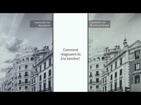Impression sur aluminium vs aluminium brossé