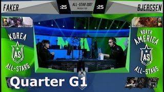 Faker Syndra vs Bjergsen Taliyah | Quarter Final 1v1 All-Stars 2017 | KR vs NA