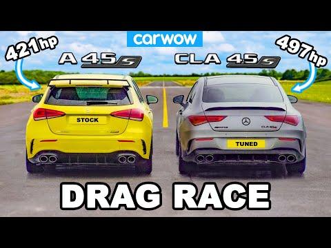 AMG A45 v Tuned CLA 45: DRAG RACE *Shock Result*