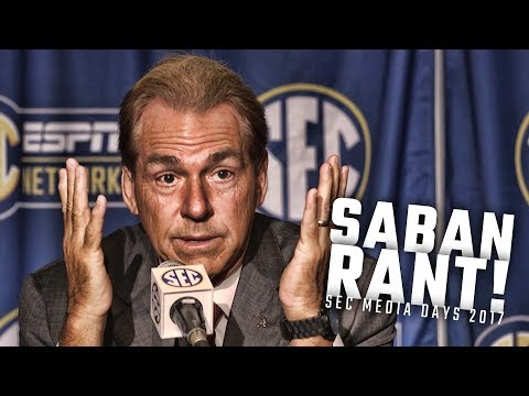 Nick Saban roasts reporter during SEC Media Days 2017