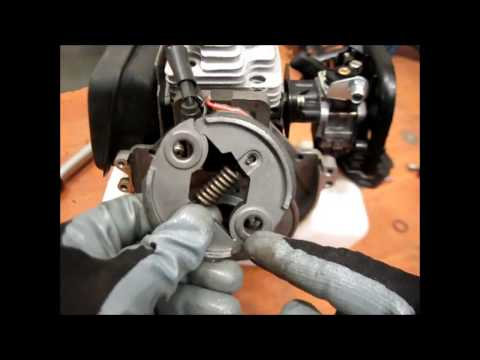 Ремонт бензокосы, замена муфты сцепления /Repair brushcutters replacement clutch.