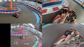 FPV Drone Kart Chases Race Multicam Sequence in Kartódromo of Montijo in Portugal