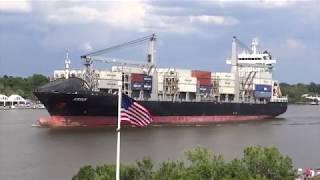 Savannah, Georgia - Savannah River Ship Traffic HD (2017)