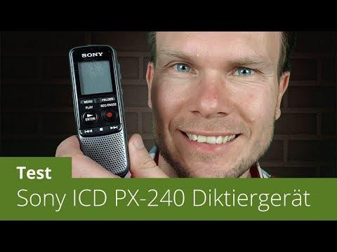 Sony ICD-PX240 Diktiergerät im Test (inkl. Sprachtest)