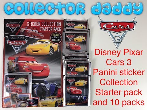 Disney Pixar Cars 3 Panini Sticker Collection Starter Pack And 10 Packets