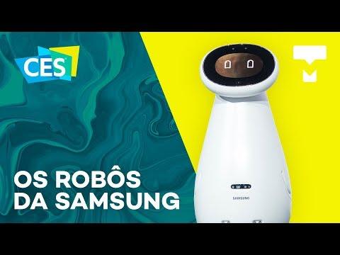 Os robôs da Samsung na CES 2019