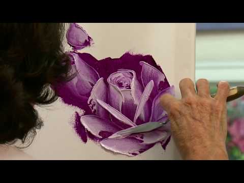 How To Paint Roses Using A Palette Knife Free