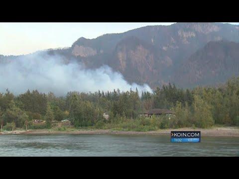 Fire in Eagle Creek Oregon is finally...