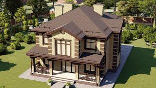 Проект дома 180-B, Площадь дома: 180 м2, Размер дома:  15,6x13,9 м