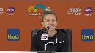 Simona Halep Press Conference   2019 Miami Open Third Round
