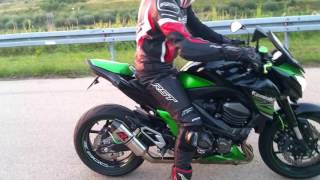 Kawasaki Z800 | Dominator Exhaust HP3 | Sound check | High revs | Flyby