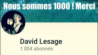 Nous sommes 1000 ! Merci