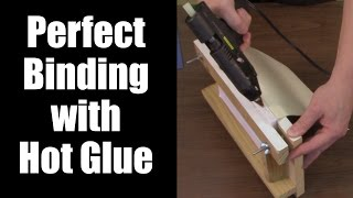 Basic DIY Bookbinding Demonstration with Hot Glue Gun