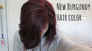 New Burgundy Hair Color | Haircut | Alyssa Nicole