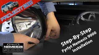 FYRLYT NEMESIS 5000 & 9000 DRIVING LIGHT INSTALLATION VIDEOS.