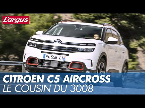 vid o essai citroen c5 aircross les trois qualit s et trois d fauts du cousin du peugeot 3008. Black Bedroom Furniture Sets. Home Design Ideas