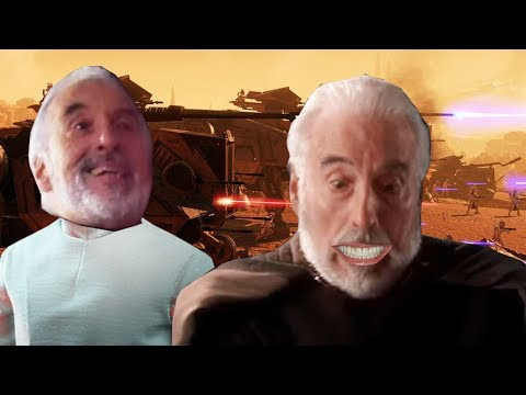 Count Dooku verbally abuses the battlefield