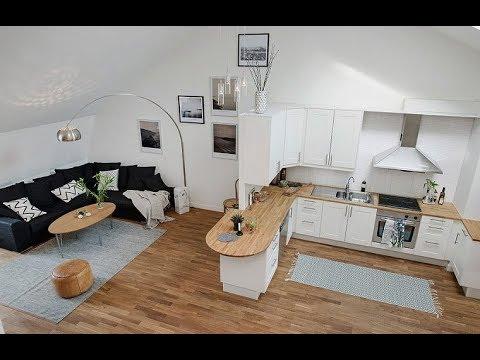 ГОСТИНАЯ с мини кухней 15 м2. Современные идеи