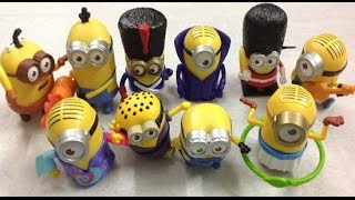 Mcdonalds Minion Toys | Collection Minions McDonalds 2015 | Happy Meal