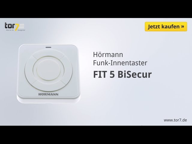 Produktvideo Hörmann Funk-Innentaster FIT 5, BiSecur