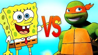ГУБКА БОБ VS ЧЕРЕПАШКИ НИНДЗЯ | СУПЕР РЭП БИТВА | Spongebob Squarepants ПРОТИВ Ninja Turtles episode