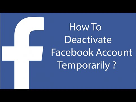 How To Deactivate Your Facebook Account Temporarily -2016 ?